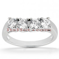 Thin 18K Gold Diamond Engagement Band 0.44ct