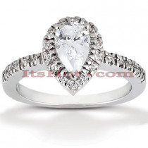 18K Gold Diamond Engagement Ring 0.98ct