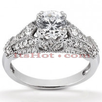 18K Gold Diamond Engagement Ring 0.99ct