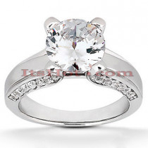 18K Gold Diamond Engagement Ring 1.05ct
