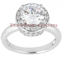 18K Gold Diamond Engagement Ring 1.09ct