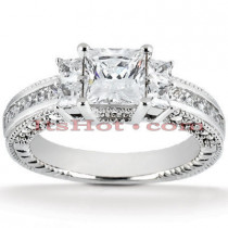 18K Gold Diamond Engagement Ring 1.47ct