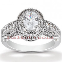 18K Gold Diamond Engagement Ring 1.56ct