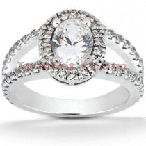18K Gold Diamond Engagement Ring 1.63ct