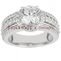 18K Gold Diamond Engagement Ring 1.69ct