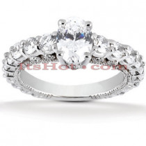 18K Gold Diamond Engagement Ring 2.05ct