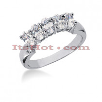 Thin 18K Gold Diamond Engagement Ring Band 1.25ct