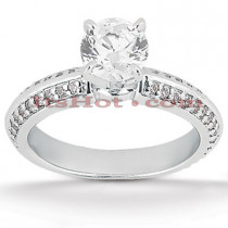 18K Gold Diamond Engagement Ring Mounting 0.38ct
