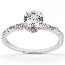 18K Gold Diamond Engagement Ring Mounting 0.39ct