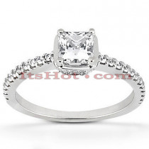 18K Gold Diamond Engagement Ring Mounting 0.40ct