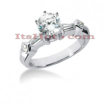 18K Gold Diamond Engagement Ring Mounting 0.42ct