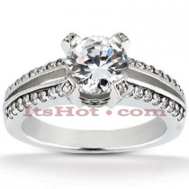 18K Gold Diamond Engagement Ring Mounting 0.44ct