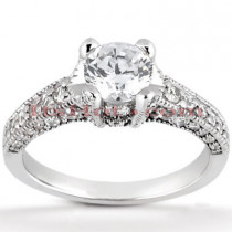 18K Gold Diamond Engagement Ring Mounting 0.65ct