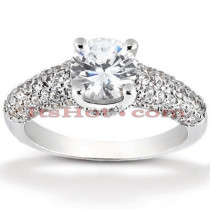 18K Gold Diamond Engagement Ring Mounting 0.66ct