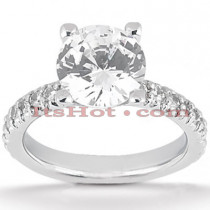 18K Gold Diamond Engagement Ring Mounting 0.78ct