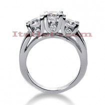 18K Gold Diamond Engagement Ring Mounting 1.89ct