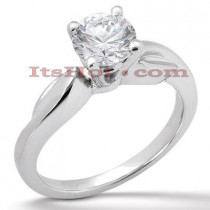 18K Gold Diamond Engagement Ring Mounting