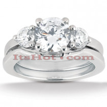 18K Gold Diamond Engagement Ring Set 0.80ct