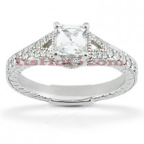 18K Gold Diamond Engagement Ring Setting 0.26ct