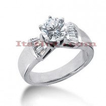 18K Gold Diamond Engagement Ring Setting 0.56ct