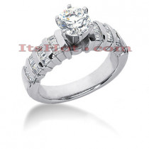 18K Gold Diamond Engagement Ring Setting 0.72ct