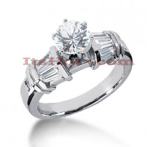 18K Gold Diamond Engagement Ring Setting 0.82ct