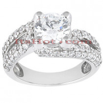 18K Gold Diamond Engagement Ring Setting 0.86ct