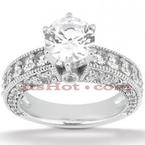 18K Gold Diamond Engagement Ring Setting 1.50ct
