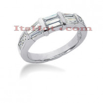 Thin 18K Gold Diamond Engagement Wedding Ring 1.10ct