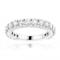 Thin 18K Gold Diamond Engagement Wedding Ring 1.91ct