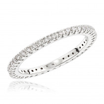 18K Gold Diamond Eternity Band 0.37ct