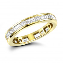 18K Gold Diamond Eternity Band 1.56ct