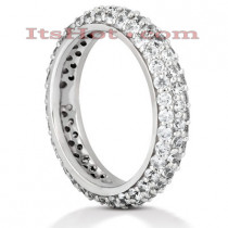 18K Gold Diamond Eternity Band 1.70ct