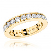 18K Gold Round Diamond Eternity Band 2.20ct