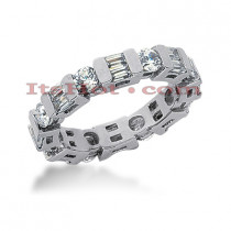 18K Gold Diamond Eternity Band 2.32ct