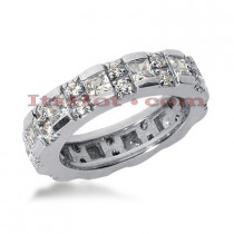18K Gold Diamond Eternity Band 2.42ct