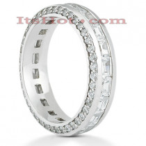 18K Gold Diamond Eternity Band 2.50ct
