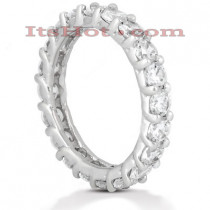 Thin 18K Gold Diamond Eternity Band 3ct