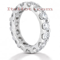 18K Gold Diamond Eternity Band 4.50ct