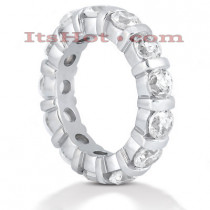 18K Gold Diamond Eternity Band 4.55ct