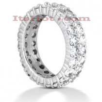18K Gold Diamond Eternity Band 4.60ct