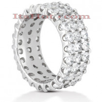 18K Gold Diamond Eternity Band 4.83ct