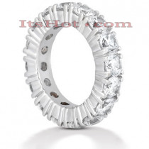 18K Gold Diamond Eternity Band 5.60ct