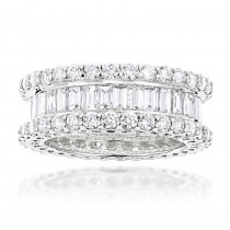 18K Gold Diamond Eternity Band 5.72ct