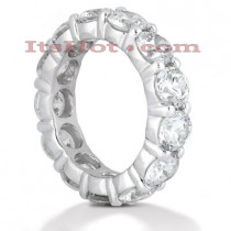 18K Gold Diamond Eternity Band 5.85ct