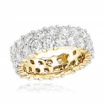 18K Gold Diamond Eternity Band 6ct