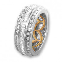 18K Gold Diamond Eternity Band Ring 1.68ct