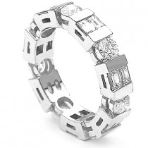Thin 18K Gold Diamond Eternity Bands Collection Item 2.80ct