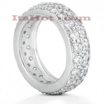 18K Gold Diamond Eternity Ring 2.64ct