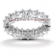 18K Gold Diamond Eternity Ring 5.13ct